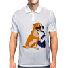 Awesome Fawn Boxer Dog Playing Saxophone Mens Polo