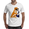 Awesome Fawn Boxer Dog Playing Saxophone Mens T-Shirt
