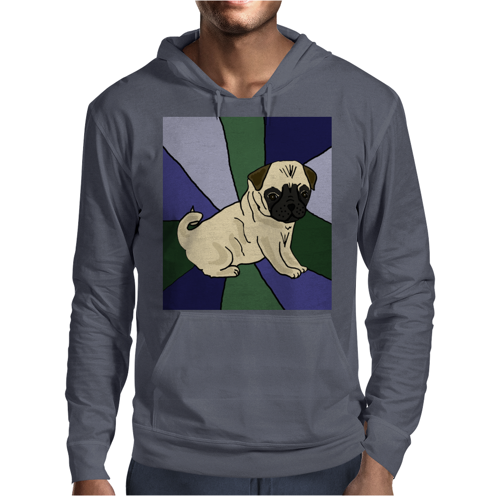 Awesome Fawn Pug Puppy Dog Abstract Art Mens Hoodie