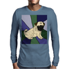 Awesome Fawn Pug Puppy Dog Abstract Art Mens Long Sleeve T-Shirt