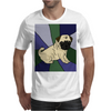 Awesome Fawn Pug Puppy Dog Abstract Art Mens T-Shirt