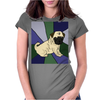 Awesome Fawn Pug Puppy Dog Abstract Art Womens Fitted T-Shirt