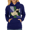 Awesome Fawn Pug Puppy Dog Abstract Art Womens Hoodie