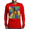 Awesome Folk Art Horse Original Art Mens Long Sleeve T-Shirt