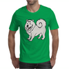 Awesome Fun Samoyed Husky Dog Art Mens T-Shirt