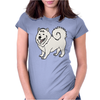 Awesome Fun Samoyed Husky Dog Art Womens Fitted T-Shirt