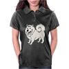 Awesome Fun Samoyed Husky Dog Art Womens Polo