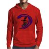 Awesome Funky and Funny Surfer Dude on Wave Art Mens Hoodie