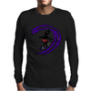 Awesome Funky and Funny Surfer Dude on Wave Art Mens Long Sleeve T-Shirt