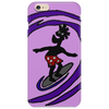 Awesome Funky and Funny Surfer Dude on Wave Art Phone Case