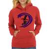 Awesome Funky and Funny Surfer Dude on Wave Art Womens Hoodie