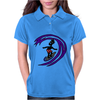 Awesome Funky and Funny Surfer Dude on Wave Art Womens Polo