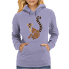 Awesome Funky Funny Lemur Abstract Art Womens Hoodie