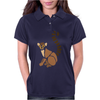 Awesome Funky Funny Lemur Abstract Art Womens Polo