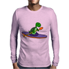 Awesome Funky Kayaking Sea Turtle Mens Long Sleeve T-Shirt