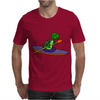Awesome Funky Kayaking Sea Turtle Mens T-Shirt