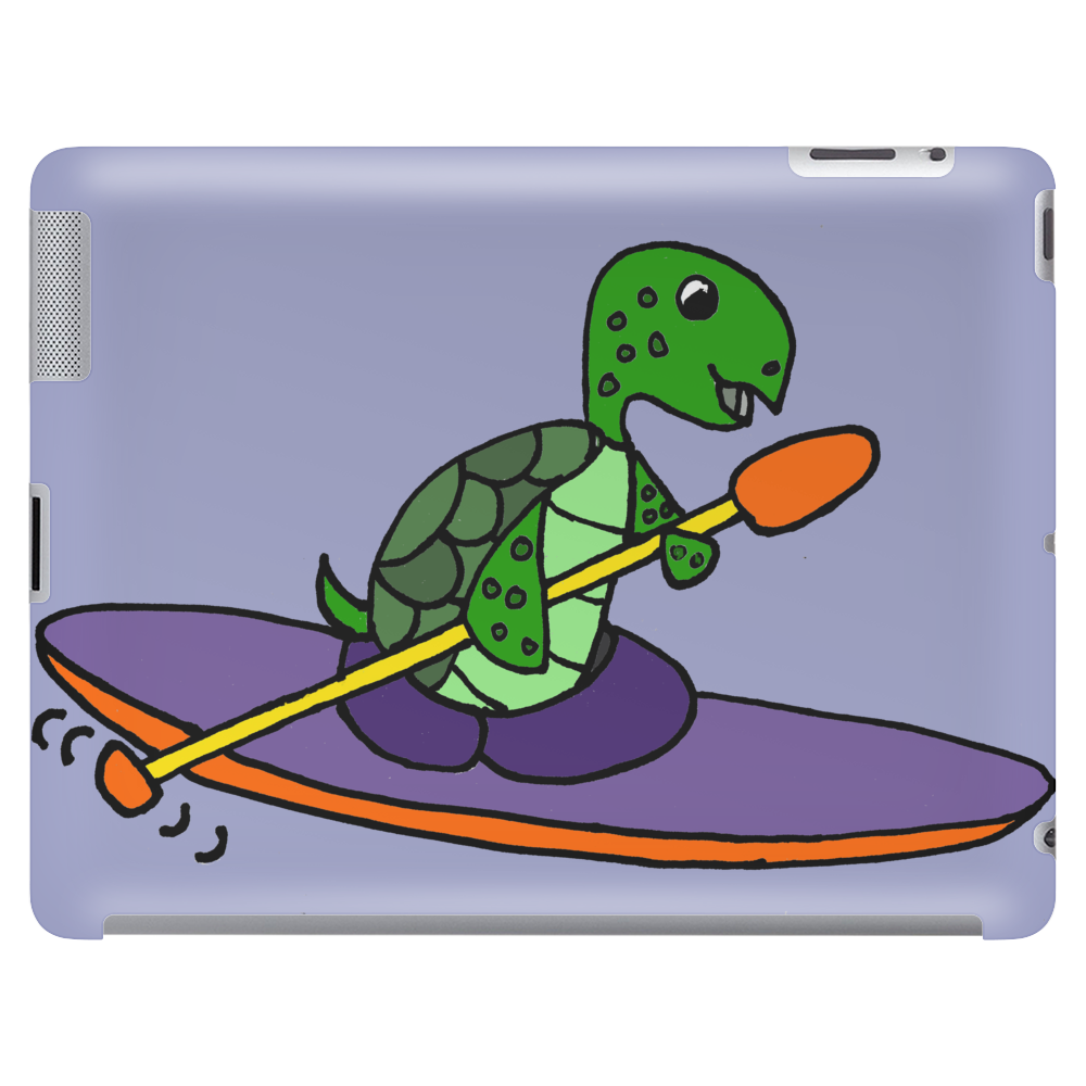 Awesome Funky Kayaking Sea Turtle Tablet