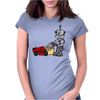 Awesome Funky Robot Pushing Lawn Mower Womens Fitted T-Shirt
