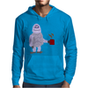 Awesome Funny Abominable Snowman Drinking Coffee Mens Hoodie