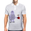 Awesome Funny Abominable Snowman Drinking Coffee Mens Polo