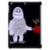 Awesome Funny Abominable Snowman Drinking Coffee Tablet