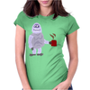 Awesome Funny Abominable Snowman Drinking Coffee Womens Fitted T-Shirt