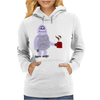 Awesome Funny Abominable Snowman Drinking Coffee Womens Hoodie
