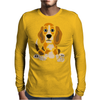 Awesome Funny Abstract Ar Beagle Puppy Dog Mens Long Sleeve T-Shirt