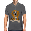 Awesome Funny Abstract Ar Beagle Puppy Dog Mens Polo