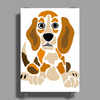 Awesome Funny Abstract Ar Beagle Puppy Dog Poster Print (Portrait)