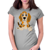 Awesome Funny Abstract Ar Beagle Puppy Dog Womens Fitted T-Shirt
