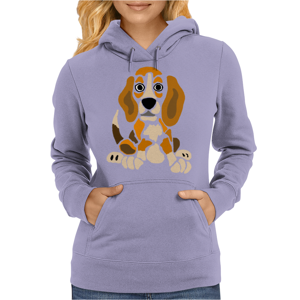 Awesome Funny Abstract Ar Beagle Puppy Dog Womens Hoodie