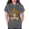 Awesome Funny Abstract Ar Beagle Puppy Dog Womens Polo