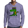 Awesome Funny Alligator in Sunglasses and using Mobile Phone Mens Hoodie
