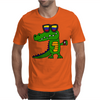 Awesome Funny Alligator in Sunglasses and using Mobile Phone Mens T-Shirt