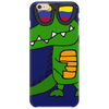 Awesome Funny Alligator in Sunglasses and using Mobile Phone Phone Case