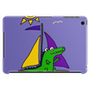 Awesome Funny Alligator on Colorful Sailboat Tablet