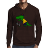 Awesome Funny Alligator Playing Golf Mens Hoodie