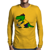 Awesome Funny Alligator Playing Golf Mens Long Sleeve T-Shirt