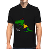 Awesome Funny Alligator Playing Golf Mens Polo