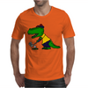 Awesome Funny Alligator Playing Golf Mens T-Shirt