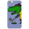Awesome Funny Alligator Playing Golf Phone Case