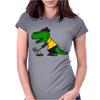 Awesome Funny Alligator Playing Golf Womens Fitted T-Shirt