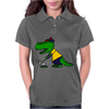 Awesome Funny Alligator Playing Golf Womens Polo