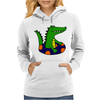 Awesome Funny Alligator Tubing Womens Hoodie