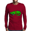 Awesome Funny Alligator with Spiked Collar Mens Long Sleeve T-Shirt