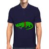 Awesome Funny Alligator with Spiked Collar Mens Polo