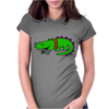 Awesome Funny Alligator with Spiked Collar Womens Fitted T-Shirt