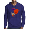 Awesome Funny Artistic Pelican with Sunglasses Mens Hoodie
