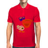 Awesome Funny Artistic Pelican with Sunglasses Mens Polo